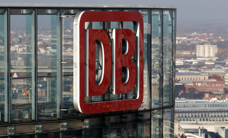 FILE PHOTO: The headquarters of German rail operator Deutsche Bahn is pictured in Berlin