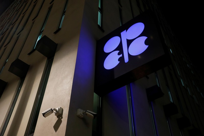 The logo of the OPEC is seen at OPEC's headquarters in Vienna