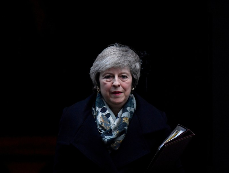 FILE PHOTO: Britain's Prime Minister Theresa May leaves 10 Downing Steet in London