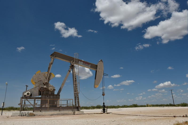 FILE PHOTO: FILE PHOTO: A pump jack operates in the Permian Basin oil production area near Wink