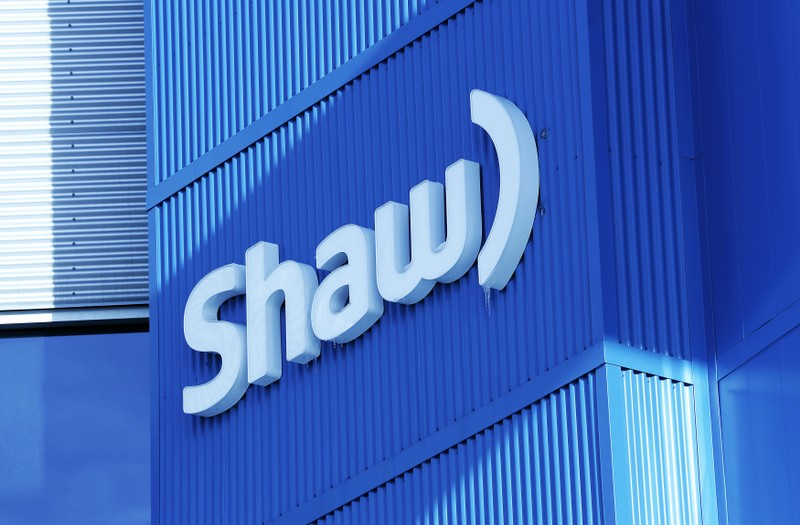 Shaw logo is pictured on their Barlow Trail building, home to the annual Shaw AGM, in Calgary, Alberta
