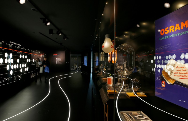 'World of light' showroom of lamp manufacturer Osram is pictured during official opening in Munich