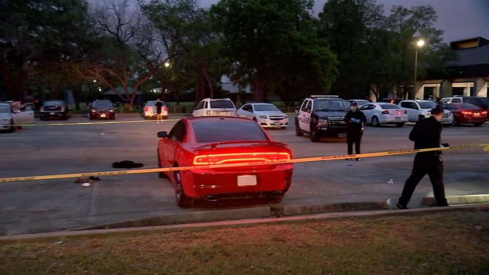 A 2-year-old boy is fighting for his life after he was shot while in a car with his mother at a Houston park.