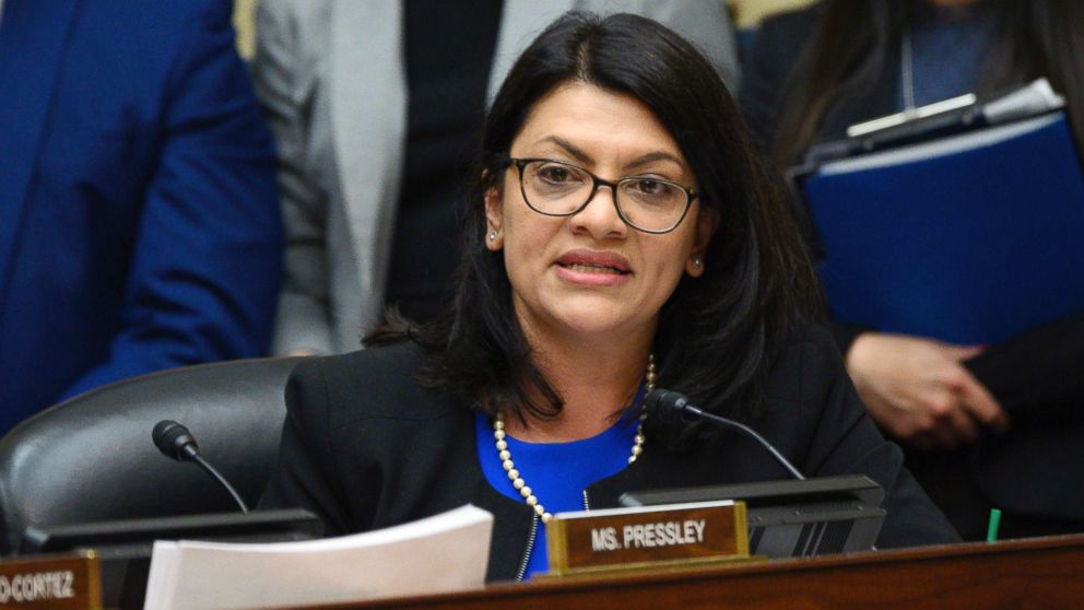 Congresswoman Rashida Tlaib speaks as Michael Cohen, former lawyer for President Donald Trump, testifies before the House Oversight and Reform Committee on Capitol Hill in Washington, D.C., on Feb. 27, 2019.