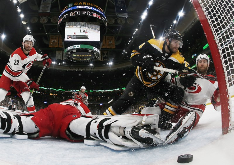 NHL: Stanley Cup Playoffs-Carolina Hurricanes at Boston Bruins