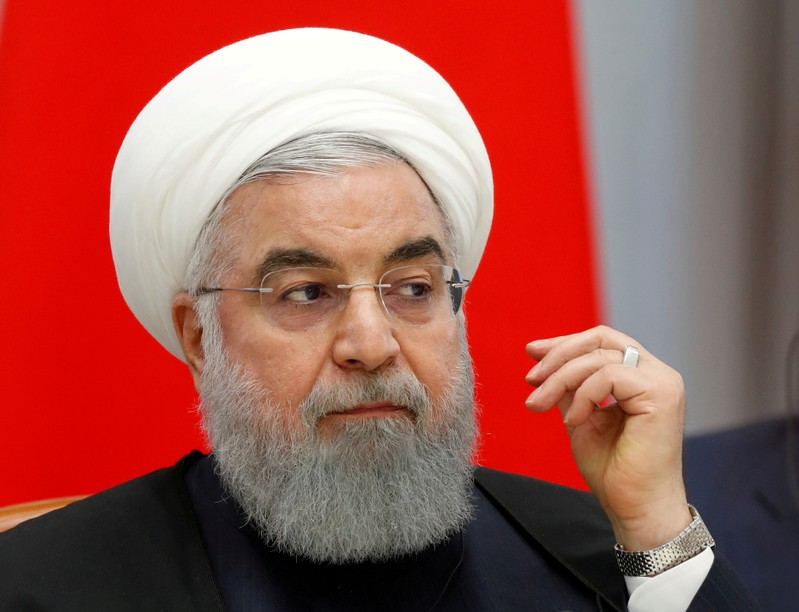 FILE PHOTO: Iranian President Hassan Rouhani attends talks in the Black Sea resort of Sochi
