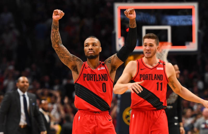 NBA: Playoffs-Portland Trail Blazers at Denver Nuggets