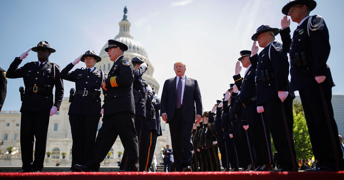 Trump Speaks At Police Officers Memorial Service On Capitol Hill