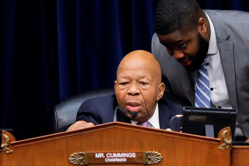 FILE PHOTO: House Oversight and Reform Committee Chairman Cummings chairs a committee meeting on White House security clearances on Capitrol Hill in Washington