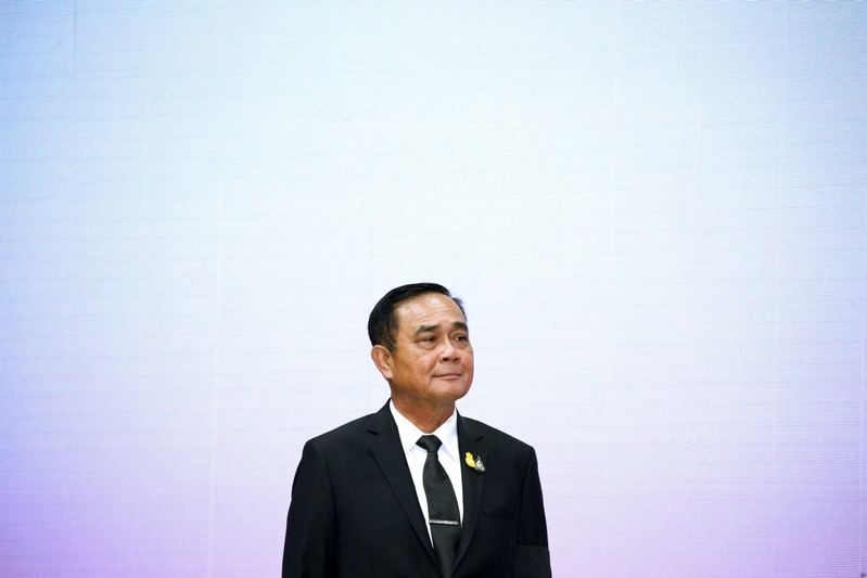 Thailand's Prime Minister Prayuth Chan-ocha attends the 2019 National Anti-Trafficking in Persons Day at a Convention Center in Bangkok