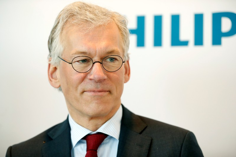 Dutch health technology company Philips presents the company's financial results for the fourth quarter in Amsterdam