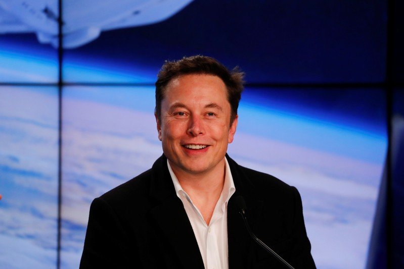 SpaceX founder Musk speaks at a post-launch news conference in Cape Canaveral