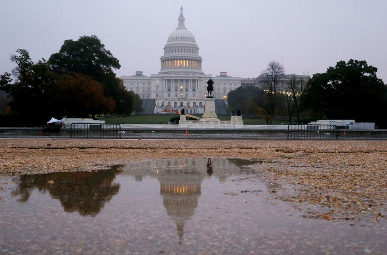 FILE PHOTO: U.S. Capitol building on the morning of the 2018 U.S. midterm election in Washington