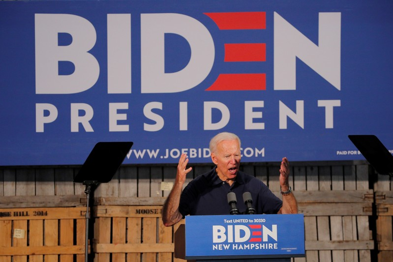 FILE PHOTO: Democratic 2020 U.S. presidential candidate Biden's campaign stop in Londonderry
