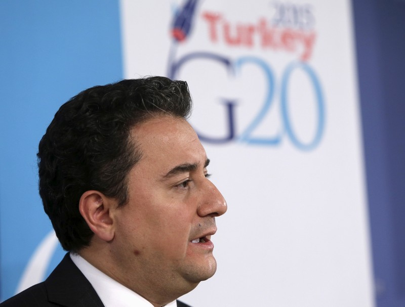 FILE PHOTO: Turkey's Deputy Prime Minister for the Economy Babacan answers question at a news conference during IMF spring meetings in Washington
