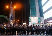 Hong Kong police arrest six at Kowloon protest