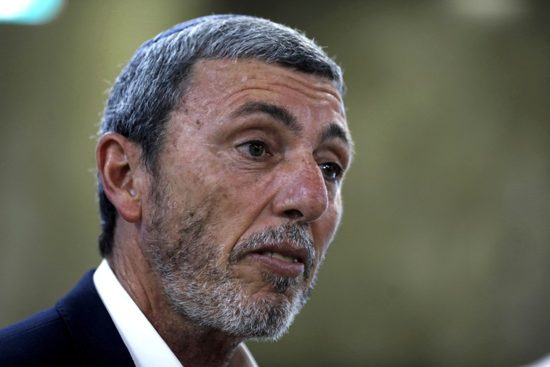 FILE PHOTO: Israel's Education Minister Rafi Peretz arrives to attend the weekly cabinet meeting in Jerusalem