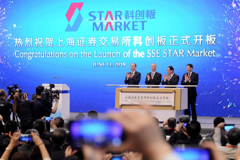 FILE PHOTO: Launch ceremony of Shanghai's Nasdaq-style tech board, STAR Market, in Shanghai