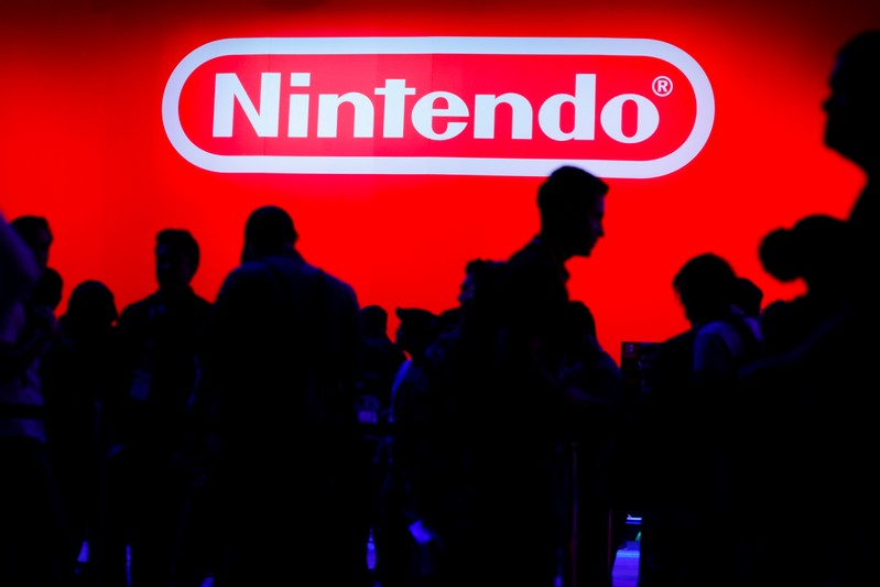 A display for the gaming company Nintendo is shown during opening day of E3, the annual video games expo revealing the latest in gaming software and hardware in Los Angeles