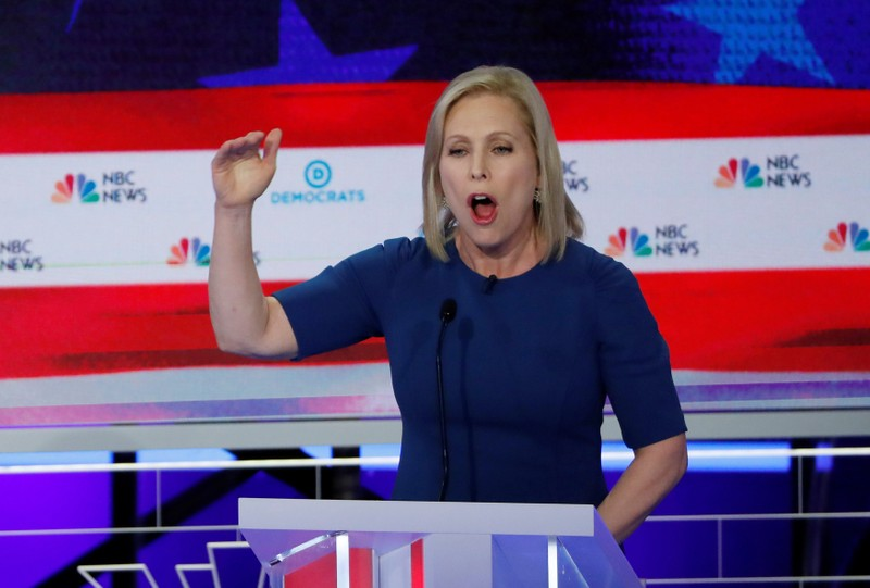 Senator Kirsten Gillibrand speaks during the second night of the first U.S. 2020 presidential election Democratic candidates debate in Miami, Florida, U.S.