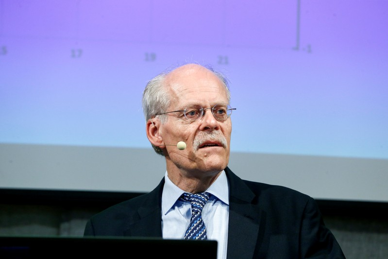 Sweden's Riksbank Governor Stefan Ingves speaks during a news conference presenting decisions on the repo rate and monetary policy, at the Riksbank headquarters in Stockholm