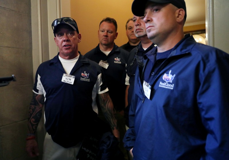 FILE PHOTO: 9/11 first responders meet with Senate Majority Leader Mitch McConnell (R-KY) at the U.S. Capitol Building in Washington, U.S.