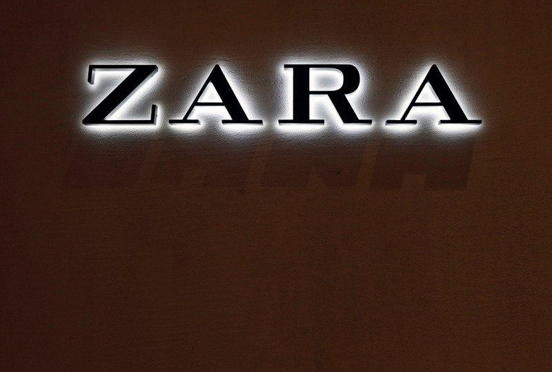 The logo of the Zara store is seen in a mall at Vina del Mar