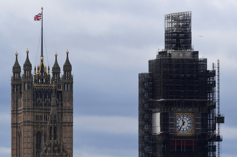 FILE PHOTO: A partial view shows the Houses of Parliament and the Big Ben clock tower in London