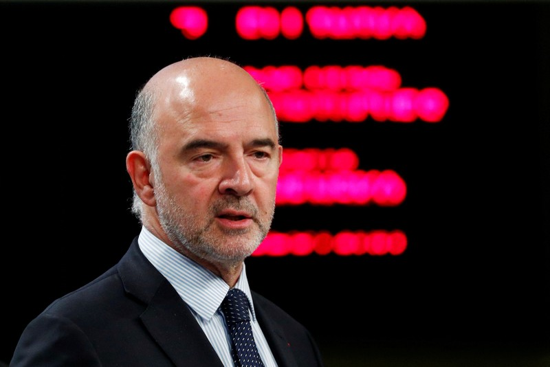 FILE PHOTO: EU Commissioner Moscovici in Brussels