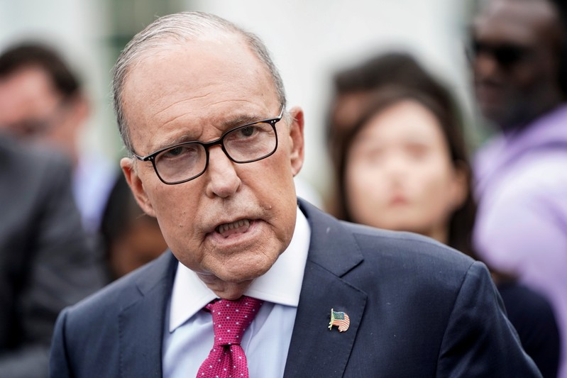 FILE PHOTO: Director of the National Economic Council Larry Kudlow speaks to the media at the White House in Washington