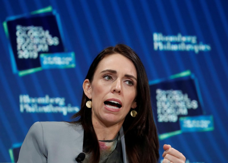 FILE PHOTO: Prime Minister of New Zealand Jacinda Ardern speaks during the Bloomberg Global Business Forum in New York City