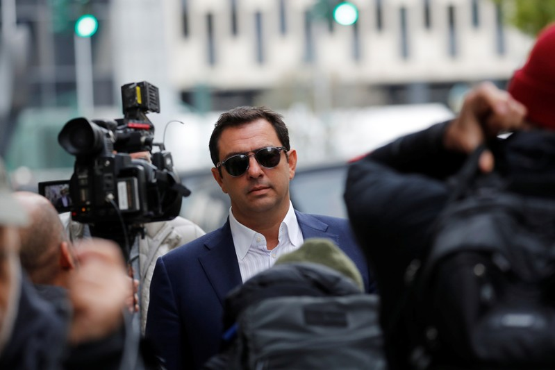 Ukrainian-born businessman Andrey Kukushkin departs after his arraignment at the United States Courthouse in the Manhattan borough of New York City