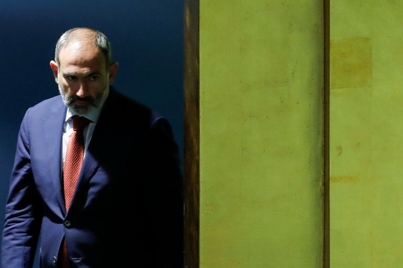 Armenian Prime Minister Pashinyan arrives to address the 74th session of the United Nations General Assembly at U.N. headquarters in New York City, New York, U.S.
