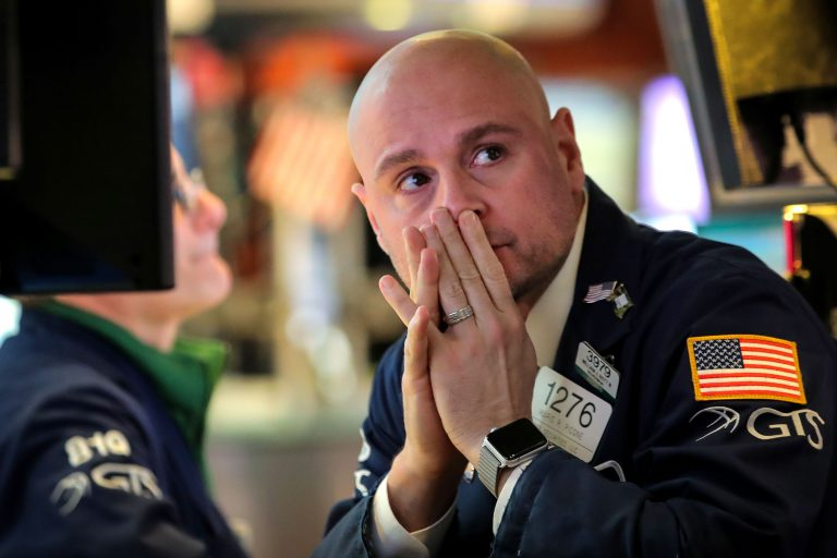 Dow falls as Wall Street struggles to rebound from this week's market rout