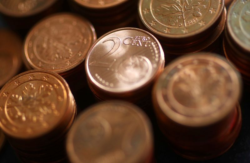 An illustration picture shows euro cent coins