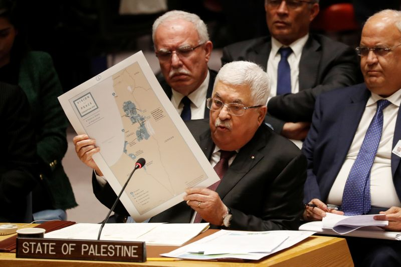 Palestinian President Mahmoud Abbas speaks at the United Nations in New York