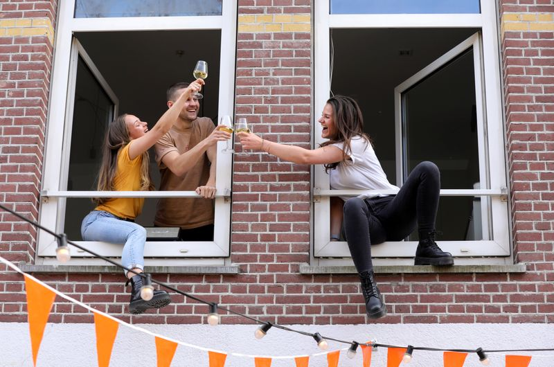 Dutch King's Day celebrations during the coronavirus disease (COVID-19) outbreak in Amsterdam