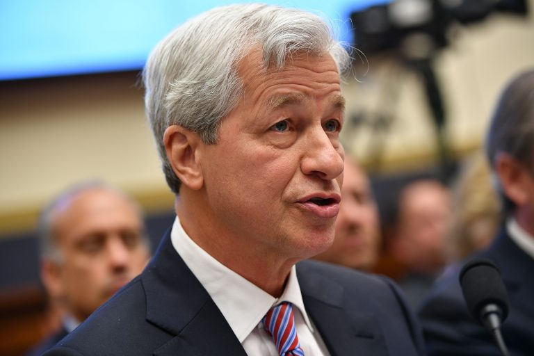 """JPMorgan shares surge after Jamie Dimon says bank is """"very valuable"""" at current prices"""