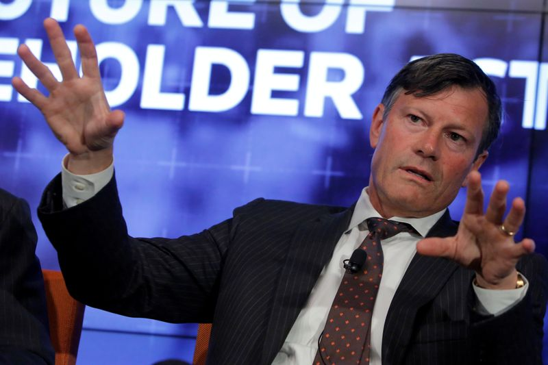 FILE PHOTO: Jeffrey Ubben, Founder & CEO at ValueAct Capital, speaks on the Reuters Newsmaker event