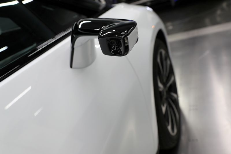 FILE PHOTO: Faraday Future's luxury electric car FF91 is seen at the company's headquarters in Gardena