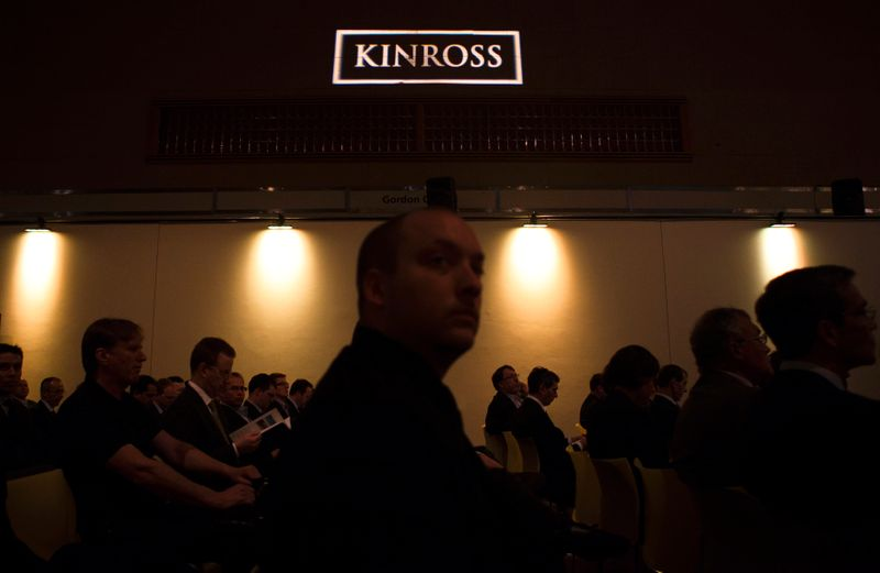 People look on during the Kinross Gold Corporation annual general meeting for shareholders in Toronto
