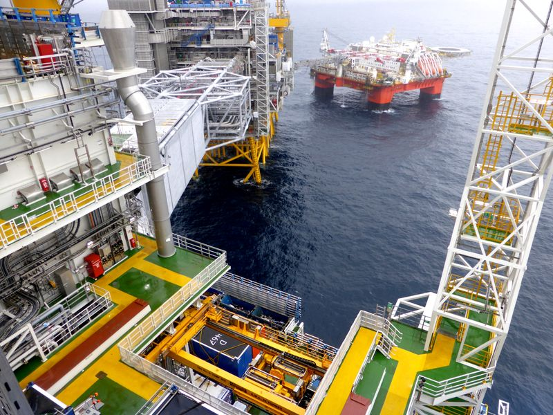 FILE PHOTO: Equinor's oil platform in the Johan Sverdrup oilfield in the North Sea