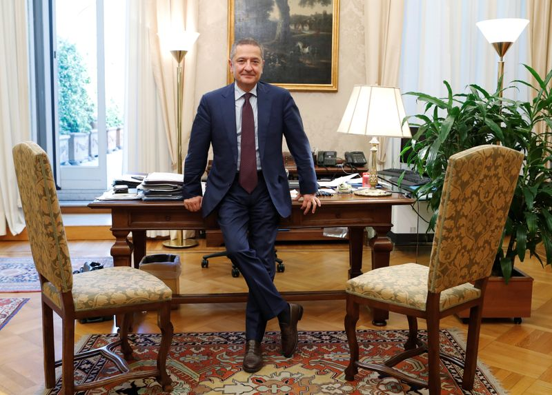 FILE PHOTO: Senior Deputy Governor of the Bank of Italy, Fabio Panetta is seen in his office ahead of his appointment to the European Central Bank's executive committee