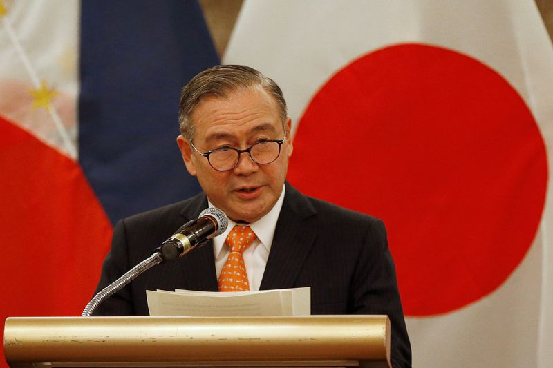 FILE PHOTO: Philippines' Foreign Affairs Secretary Teodoro Locsin Jr. speaks during a press briefing with Japanese Foreign Minister Toshimitsu Motegi after their meeting in Manila