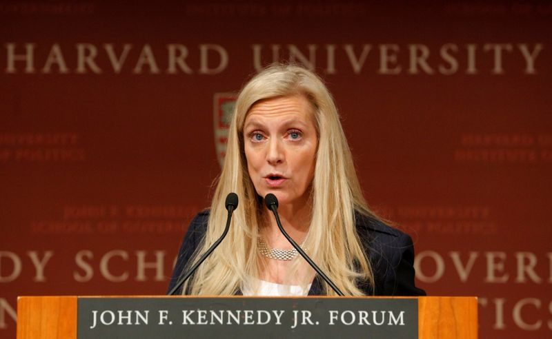 FILE PHOTO: Brainard speaks at the John F. Kennedy School of Government at Harvard University in Cambridge