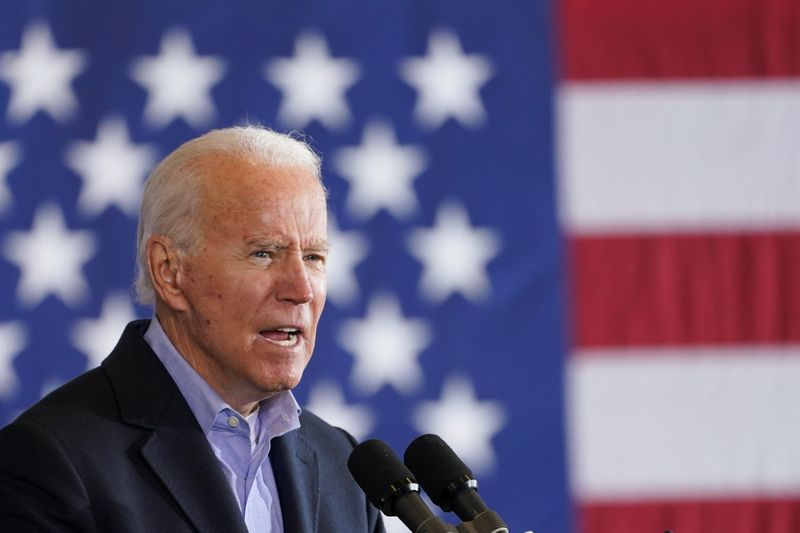 Democratic U.S. presidential nominee Joe Biden at the Get Out The Vote event in Cleveland