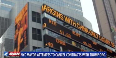 NYC Mayor attempts to cancel contracts with Trump org.