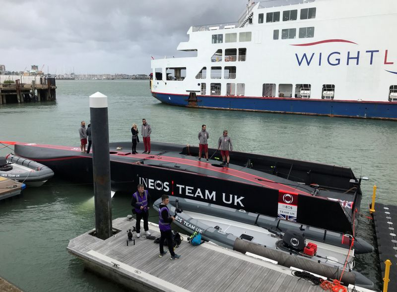 ukINEOS TEAM UK's new America's Cup AC75 yacht