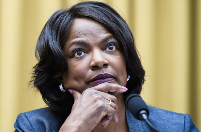 """Rep Val Demings, D-FL, speaks during the House Judiciary Subcommittee on Antitrust, Commercial and Administrative Law hearing on """"Online Platforms and Market Power"""" in the Rayburn House office Building on Capitol Hill in Washington, DC on July 29, 2020. (Photo by MANDEL NGAN / POOL / AFP) (Photo by MANDEL NGAN/POOL/AFP via Getty Images)"""