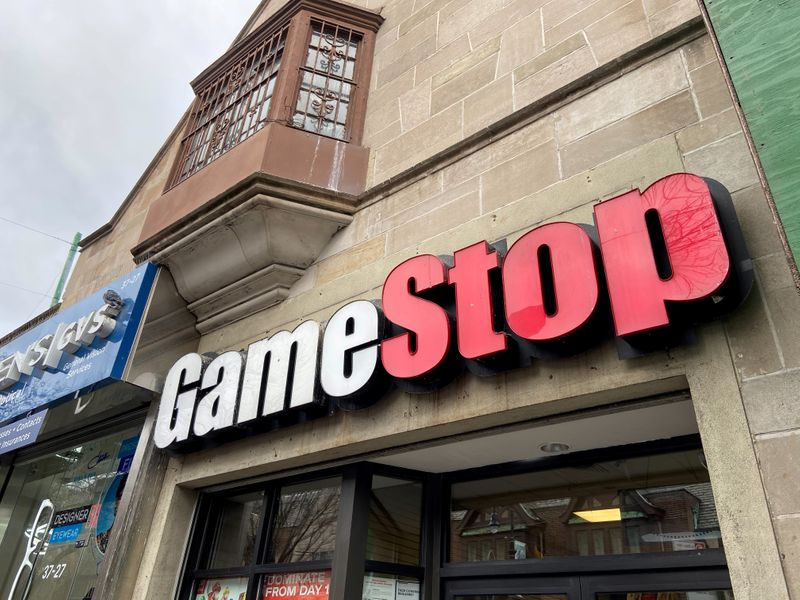 FILE PHOTO: A GameStop store is seen in the Jackson Heights neighborhood of New York City